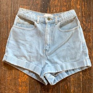 American Apparel's high waisted denim shorts